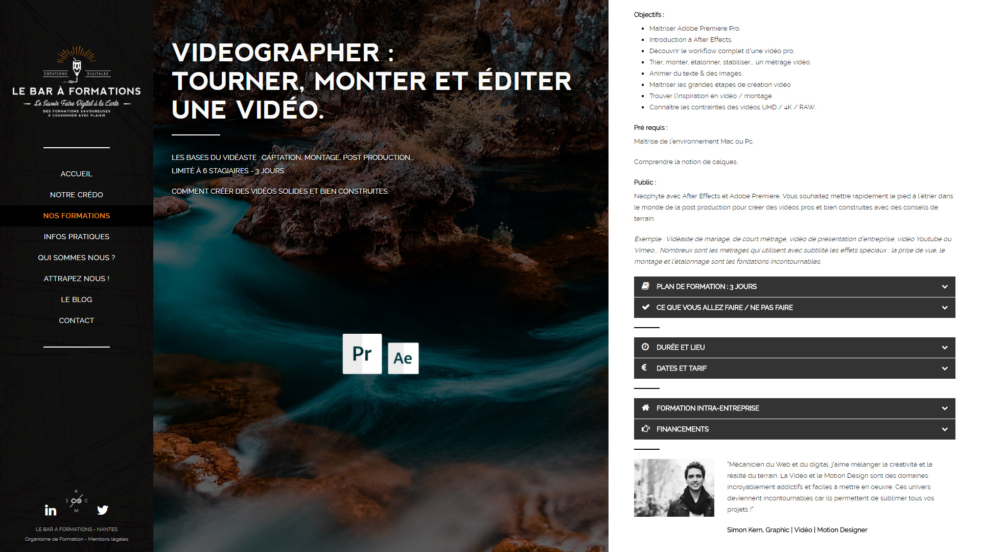 fiche formation videographer bar formation nantes