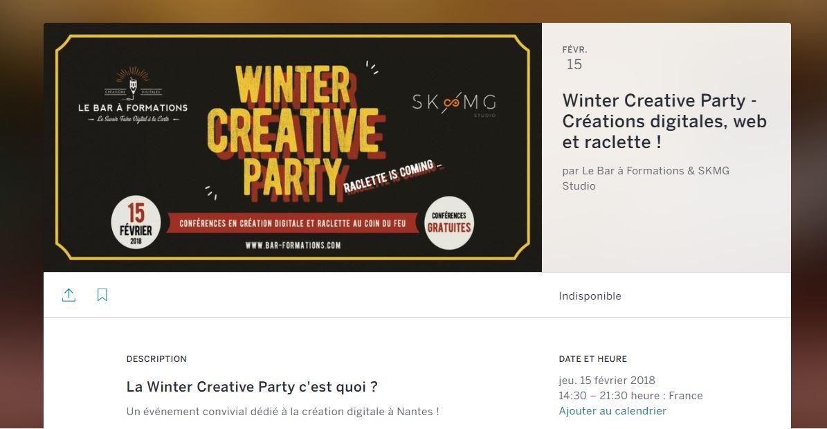 Eventbrite Flyer-winter creative party à nantes, en web, créations digitales et formation
