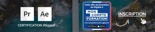 Formation CPF Motion design & Vidéo à Nantes